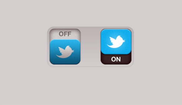 Twitter, off on