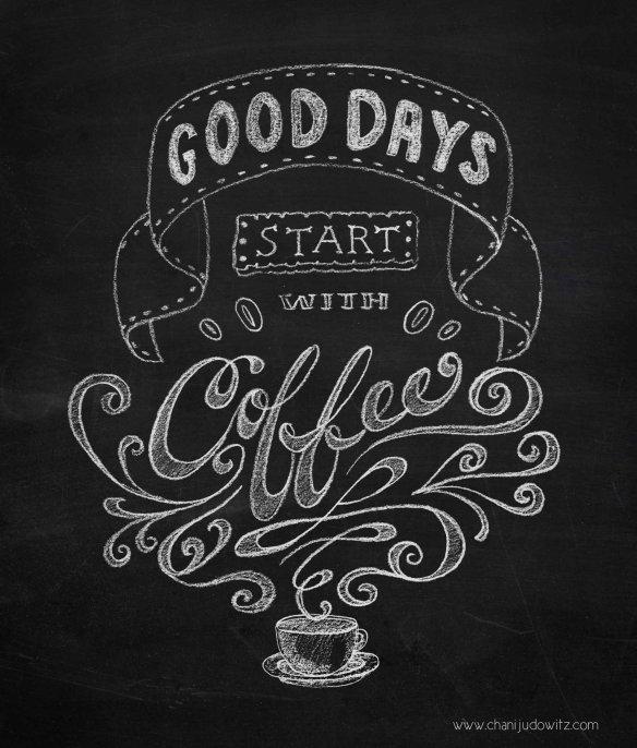Lettering, café